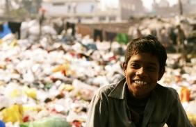 Happy slum kid